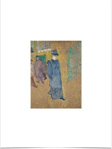 HENRI DE TOULOUSE LAUTREC JANE AVRIL LIMITED EDITION BIG BORDERS ART PRINT 18x24