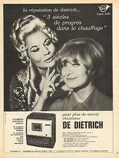 Publicité  1966  Appareil de chauffage DE DIETRICH