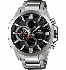 Casio Men's Edifice Black Label Bluetooth Tough Solar Dual Watch ECB500D-1A