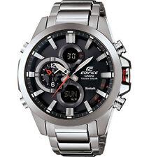 Casio Men's Edifice Black Label Bluetooth Tough Solar Dual Watch ECB500D-1A