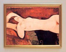 Amedeo Modigliani AKT EINER SCHLAFENDER FRAU Wunderbare Rottöne LEINWAND 20
