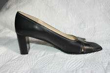 Black Leather Shoe Sandal Made in Italy Size 9B, Medium