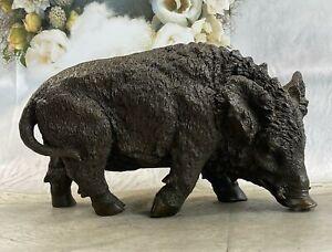 Boar Wild Pig Bronze Statue Sculpture Figure by Barye Farm Animal Lost Wax SALE