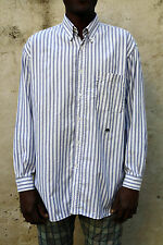 Oaks by Ferre Casual Shirt Striped Italy Cotton Vintage 80s made in Italy XL