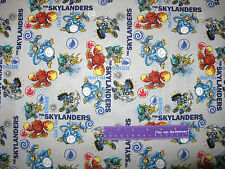 SKYLANDERS Video Game Eruptor Chop Elements Gray Cotton Fabric BY THE HALF YARD