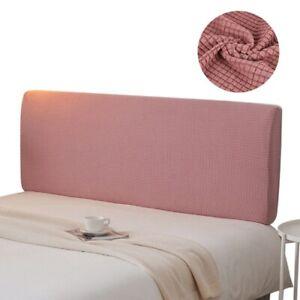 Bed Head Slipcover Dustproof Headboard Cover Solid Washable Polar Fleece Covers