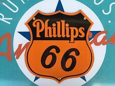 top quality PHILLIPS 66 diecut SHIELD porcelain coated 18 GAUGE steel SIGN