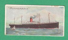 SINGLETON & COLE LTD. -  VERY RARE ATLANTIC SHIPPING CARD  -  MINNEHAHA  -  1910