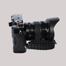 Black Paracord Wrist Strap for DSLR Compact Cameras Fuji Canon Nikon Sony etc
