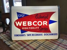 Vintage advertising webcor Hi Fi Stereo Lighted Double Sided Sign