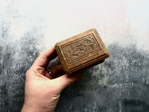 Carved Mer De Glace French Wooden Box