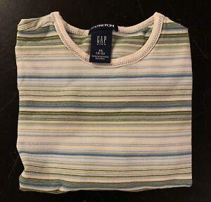 Gap Kids Girls Size XS 4 5 Top Shirt Striped Long Sleeve GAP STRETCH