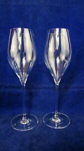 Leonardo stemware wine glasses.  Marked Leonardo (2) glasses 9 1/2 inches tall.