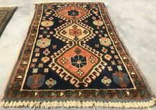Authentic Hand Knotted Vintage Ceena Wool Area Rug 3 x 2 Ft (8354 Bn)