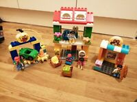 LEGO Duplo 10836 Town Square Building MY TOWN BAKERS GROCER MECHANIC COMPLETE