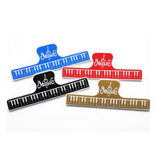 More details for 2pcs colorful plastic music score fixed clips book paper holder for guitar^