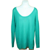 Lane Bryant Green Stretch Long Sleeve Scoop Neck Tunic Blouse Top Size 14/16
