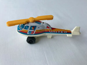 Vintage 1960's ND Toys Tin & Plastic United N90U Toy Helicopter Made In Japan