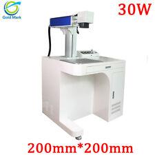 30W Desktop Cabinet Fiber Laser Marking Machine Metal Engraving for gold silver