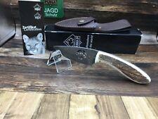 2013 Puma 818000 Logo Stag Knife Damascus Steel With Leather Sheath - Mint Box