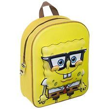 NEW OFFICIAL SpongeBob SquarePants Kids 3D Backpack Rucksack Nursery School Bag