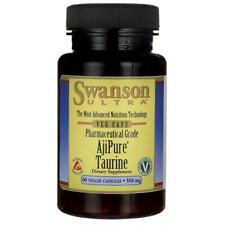Swanson Ajipure Taurine, Pharmaceutical Grade 500 mg 60 Veg Caps