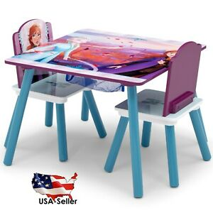 Disney Frozen II 3-Piece Square Activity Table and Chair Set with Storage USA