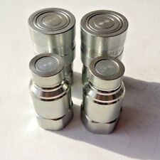 """3/4"""" NPT, ISO-16028 FF Coupling Hydraulic Quick Disconnect, SMS-FF-12, 2 Sets"""