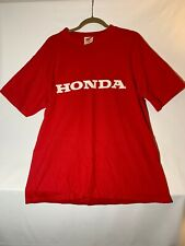 Vintage Honda Motorcycles T-Shirt Mens Red Size Large Off-road Racing Tee U.S.A.