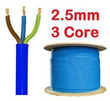 2.5mm BLUE 32a Arctic 240v 3 Core Flex Cable Outdoor Wire sold per metre