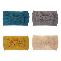 4PCS Toddler Girls Baby Turban Headband Hair Band Bow Accessories Headwear