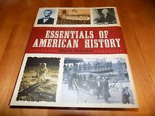 ESSENTIALS OF AMERICAN HISTORY U.S. United States Historical US Overview Book