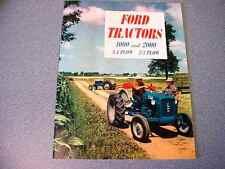 Ford 4000 & 2000 Farm Tractor Color Brochure