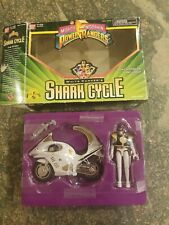 Bandai Mighty Morphin Power Rangers White Rangers Shark Cycle 1995 IOB RARE