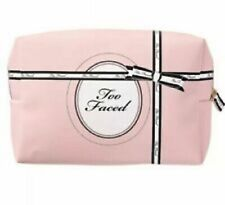 Too Faced Makeup Cosmetic Bag Pink & Black New in Package