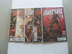 "2016 Daredevil CHINATOWN ""Complete Set"" of 5 Comics 1-5 (1-2-3-4-5) NM/1ST PRINT"