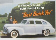 1941 Buick Special 4 DR Sedan Fastback Postcard