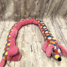 "Toys R Us Dachshund Dog Huge 48"" Plush Stuffed Animal Toy Weiner Puppy Pink Long"