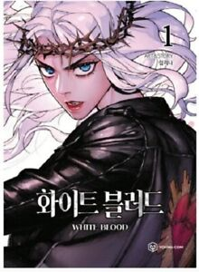 Korean LINE Webtoon Book Cartoon Comics / White Blood Unholy Blood Vol.1
