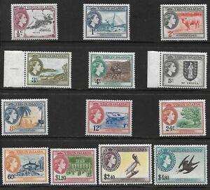 BRITISH VIRGIN ISLANDS 1956-62 SET (13) FINE MNH. SG. 149 - 161.  (1663)