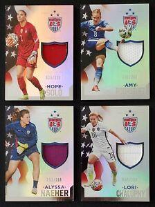 2015 Panini USA Soccer Hope Solo + 3 Other cards Memorabilia USWNT LOT (4)  🔥