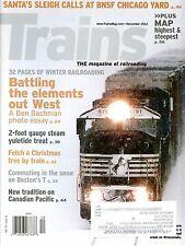 Trains Magazine December 2012 Santa's Sleigh calls at BNSF Chicago Yard