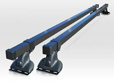 Roof Rack Bars For Fiat Scudo 1995-2007 BLACK Steel Top 2-Bar Cross Styling Load