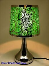"""Stainless Steel Table Touch Lamp, Leaf 12.6"""" (Green)"""