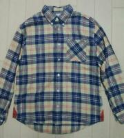 visvim Authentic Sashiko Quilted Check Shirt Beige Size 1 Used from Japan