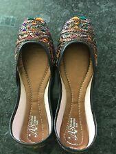 Women Khussa/kolhapuri chappal flat shoes Indian/Pakistani size 7.5 not sandals