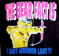 Vintage Bear Mountain Mormon Lake Arizona Archery Shoot Graphic T-Shirt Men's L