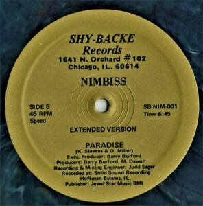 """12"""" Boogie - Funk NIMBISS paradise ( Extended Version ) 1982 REISSUE"""