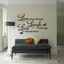 Live Laugh Love Stickers Decal Sticker DIY Removable Mural Room Decor Vinyl Art