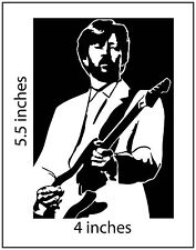 2 ERIC CLAPTON Stickers Cut Vinyl Decal Cream Slowhand Yardbirds BB King Band